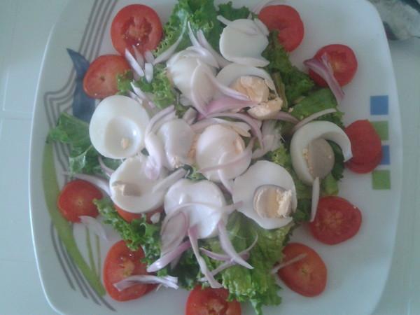 salade aux oeufs dur
